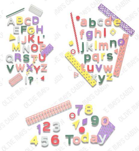 Sizzix Pop Art majuscules 663310 Pop Art minuscules 663311 numéros 663312