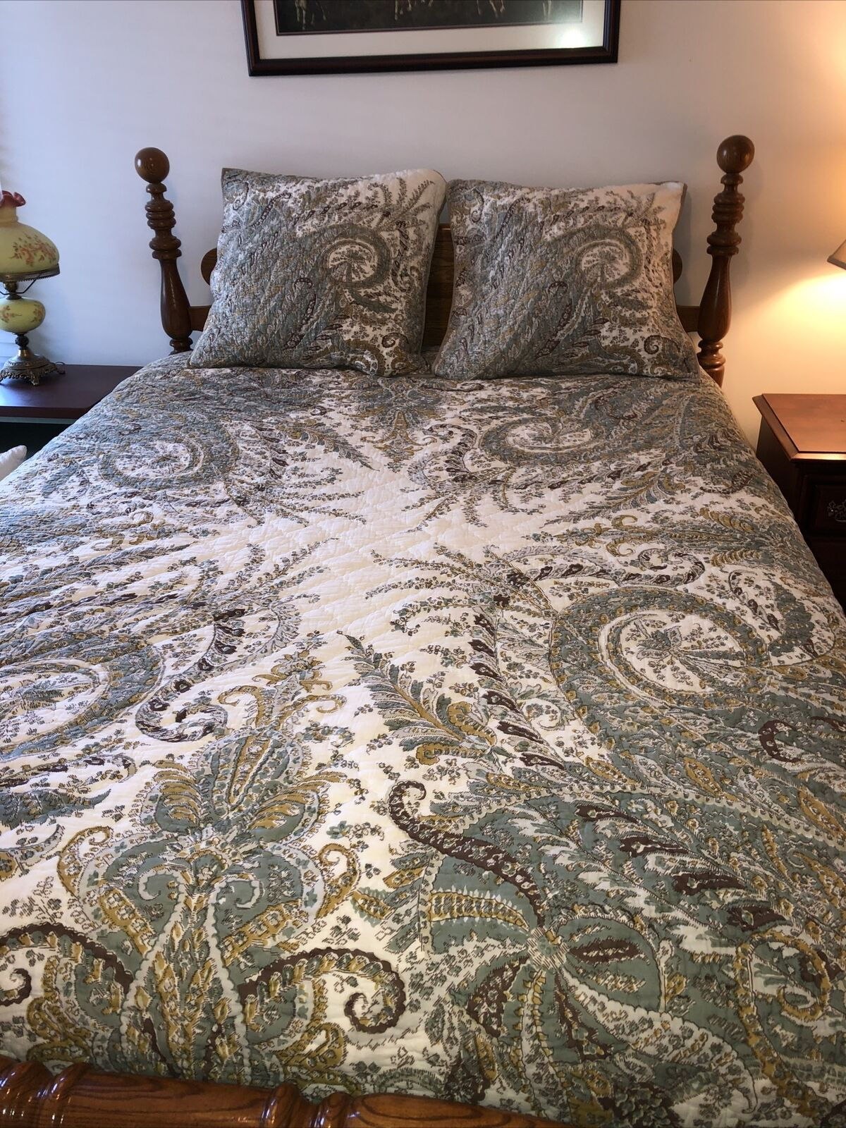 Pottery Barn Teen Multi Colors Marni Floral Paisley Full Queen Quilt For Sale Online Ebay