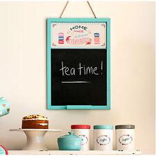 New Amelie Wood Black Chalk Board Large Notice Memo Kitchen Hanging Message Home