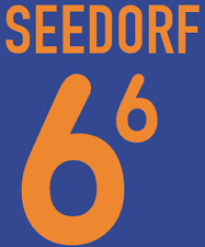 Holland Seedorf Nameset 2000 Shirt Soccer Number Letter Heat Print Football A