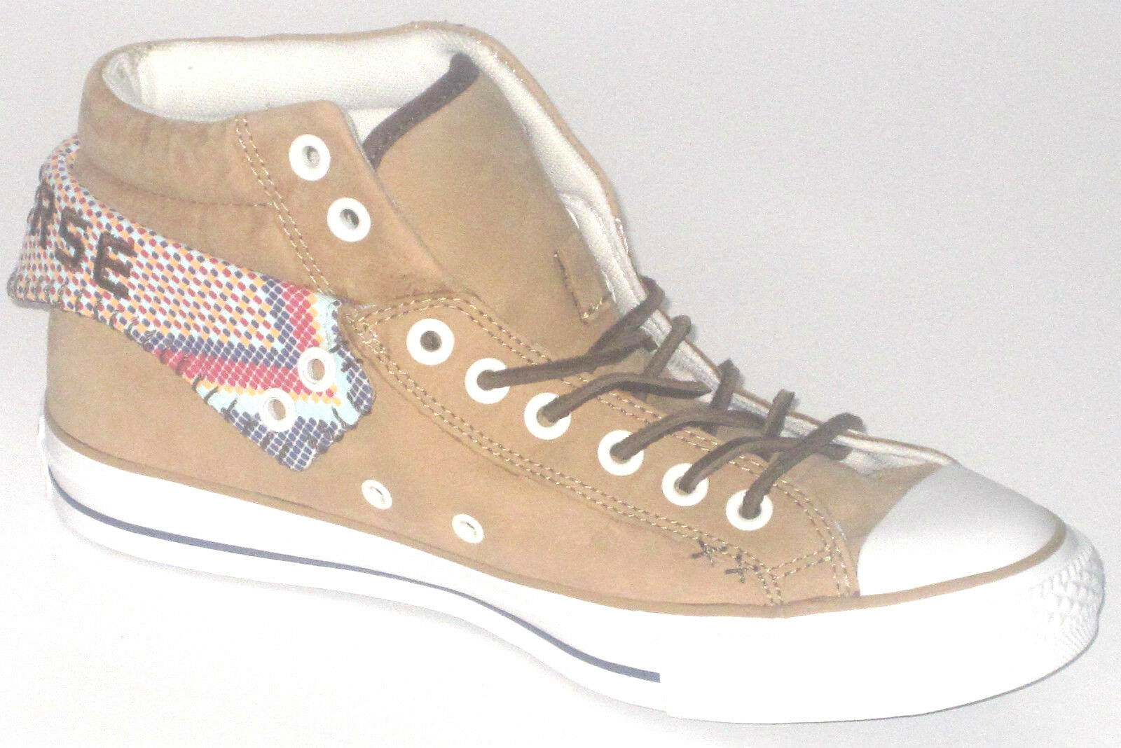 Mens CONVERSE CT PC2 MID Wheat Leather Trainers 135867C UK 4.5 EUR 37