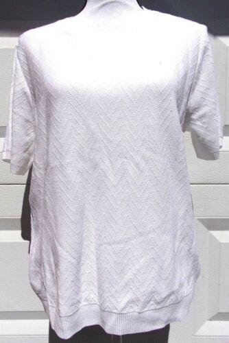 Alfred Dunner Women/'s Missy Short Sleeve Sweater Shell