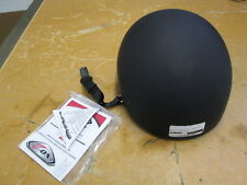 Zox Nano Old School Street Flat Black Motorcycle Helmet Size Large Z88-00214