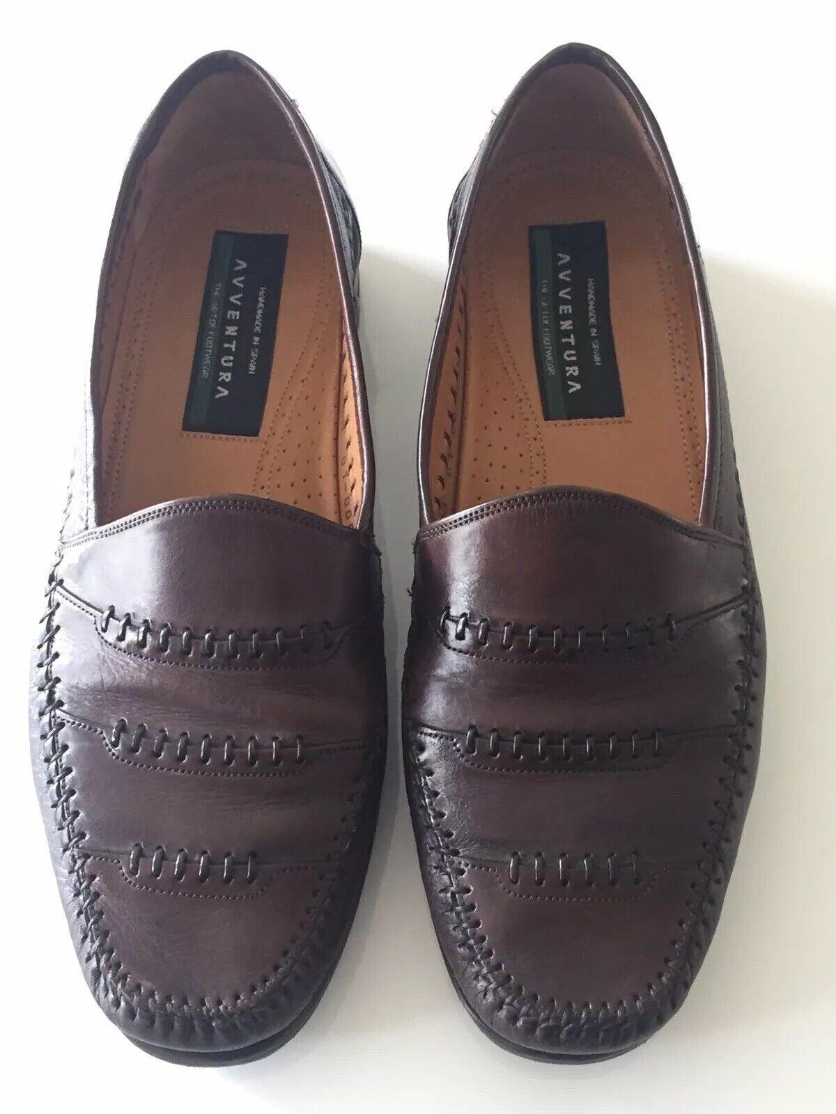 AVVENTURA AVVENTURA AVVENTURA Dark braun Leather Loafer schuhe - Spain Sz 9 M 236205