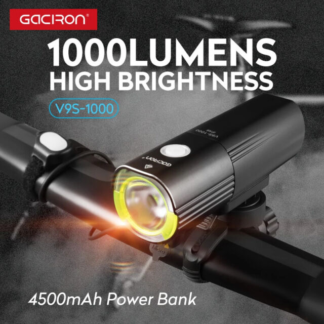 LED Rechargeable MTB 1000Lumens USB Bike Front Light Bicycle Headlight Mountain