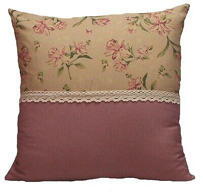 Dekokissen Kissenbezüge Boho Landhaus Shabby Blumen Muster Akantus Blättern