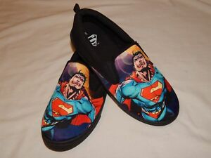 NEW-Superman-Movie-Skate-Shoes-Canvas-Slip-On-Casual-Loafers-Sneakers-Mens-8