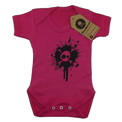 Metallimonsters Splat Vest Pink alternative goth punk rock metal baby clothes