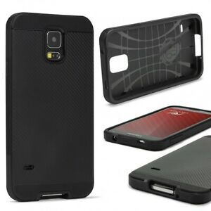 Samsung-galaxy-s5-case-Carbon-Style-Housse-Dual-Layer-TPU-Glasfolie