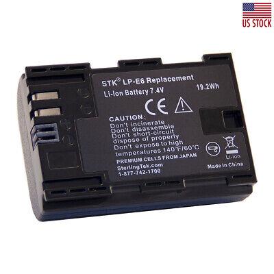 Lp E6 Lp E6n Li Ion Battery Pack For 7d Mark Ii 5d 60d 70d Camera 1800mah 616174209585 Ebay