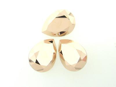 Swarovski Foiled Pear Stones Art.4320 18x13mm Crystal Rose Gold 3 Pieces cc