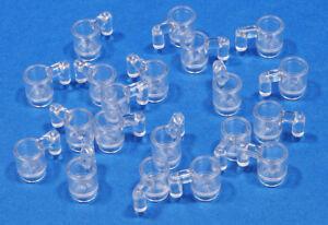 LEGO-20-x-Becher-Tasse-transparent-klar-Trans-Clear-Cup-3899-NEUWARE-L1
