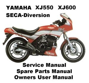 Yamaha Xj600 Xj550 Workshop Service Repair Parts Manual Pdf Files Seca Diversion Ebay
