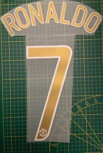 FLOCAGE RONALDO #7 Manchester United  Home 2006-2007 Nameset Champions League.