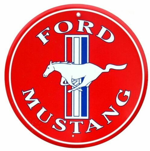 Durchmesser ca USA XXL US Schild 60 cm Ford Mustang Red