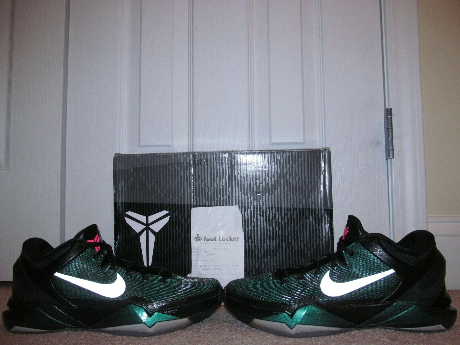 2012 NIKE KOBE VII (7) INVISIBILITY CLOAK size 8 WORN ONCE w Box & Receipt RARE