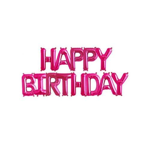 """16/"""" HAPPY BIRTHDAY ALPHABET LETTER FOIL BANNER DECORATIONS PARTY BIRTHDAYS HOME"""