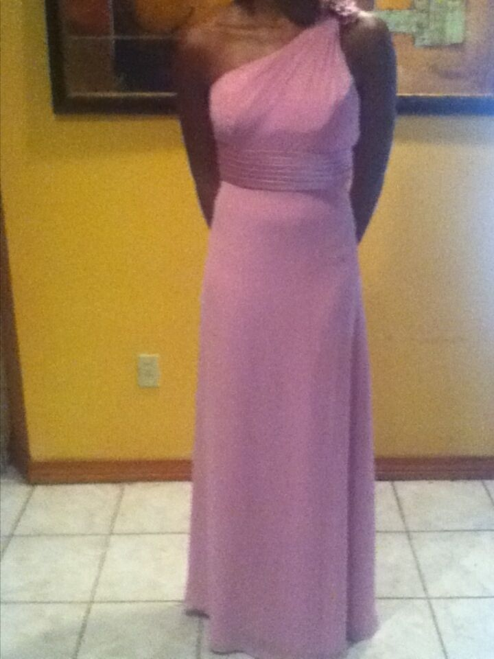 Full length pink gown size 10