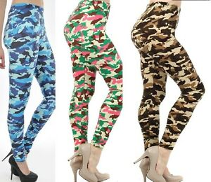 d7d243a6f4848 Image is loading 3-Colors-Camo-Camouflage-Stretch-Footless-Leggings-Pants-