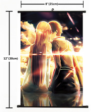 2932 Anime Sword Art Online Kirito GGO Wall Scroll Poster cosplay A