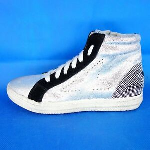 Meline-Femmes-Baskets-Montantes-Argento-Star-Taille-36-Etoile-Cuir-Chaussures-Np