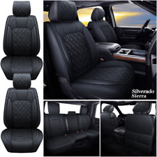 Car Seat Cover Pu Leather Fits For 2007 2021 Chevrolet Silverado Gmc Sierra 1500