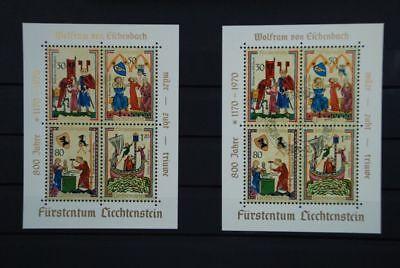 B2 Europa Liechtenstein 527-530 Block 8 Postfrisch Gestempelt Europa