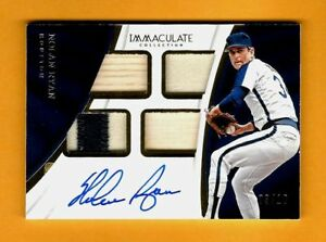 NOLAN-RYAN-2017-Immaculate-QUAD-3-10-BAT-2-COLOR-PATCH-JERSEY-AUTO-AUTOGRAPH