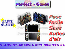 Skin sticker auto-collant vinyl transformers pour console nintendo 3DS XL LL