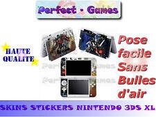 Skin sticker auto-collant vinyl transformers pour console nintendo 3DS XL LL