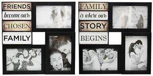 Wall-Hanging-Black-Plastic-Multi-Collage-Quote-Picture-Photo-Frame