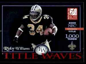 2001 DONRUSS ELITE TITLE WAVES RICKY WILLIAMS 1393/2000 NEW ORLEANS SAINTS