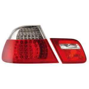 LED-Rueck-Heckleuchten-Set-fuer-BMW-E46-Cabrio-Bj-99-07-klar-rot-chrom