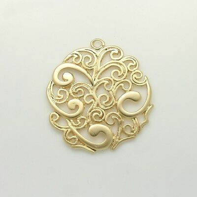 Filigree Pendants Charms - Necklace Earrings Bracelets connector link supply #48