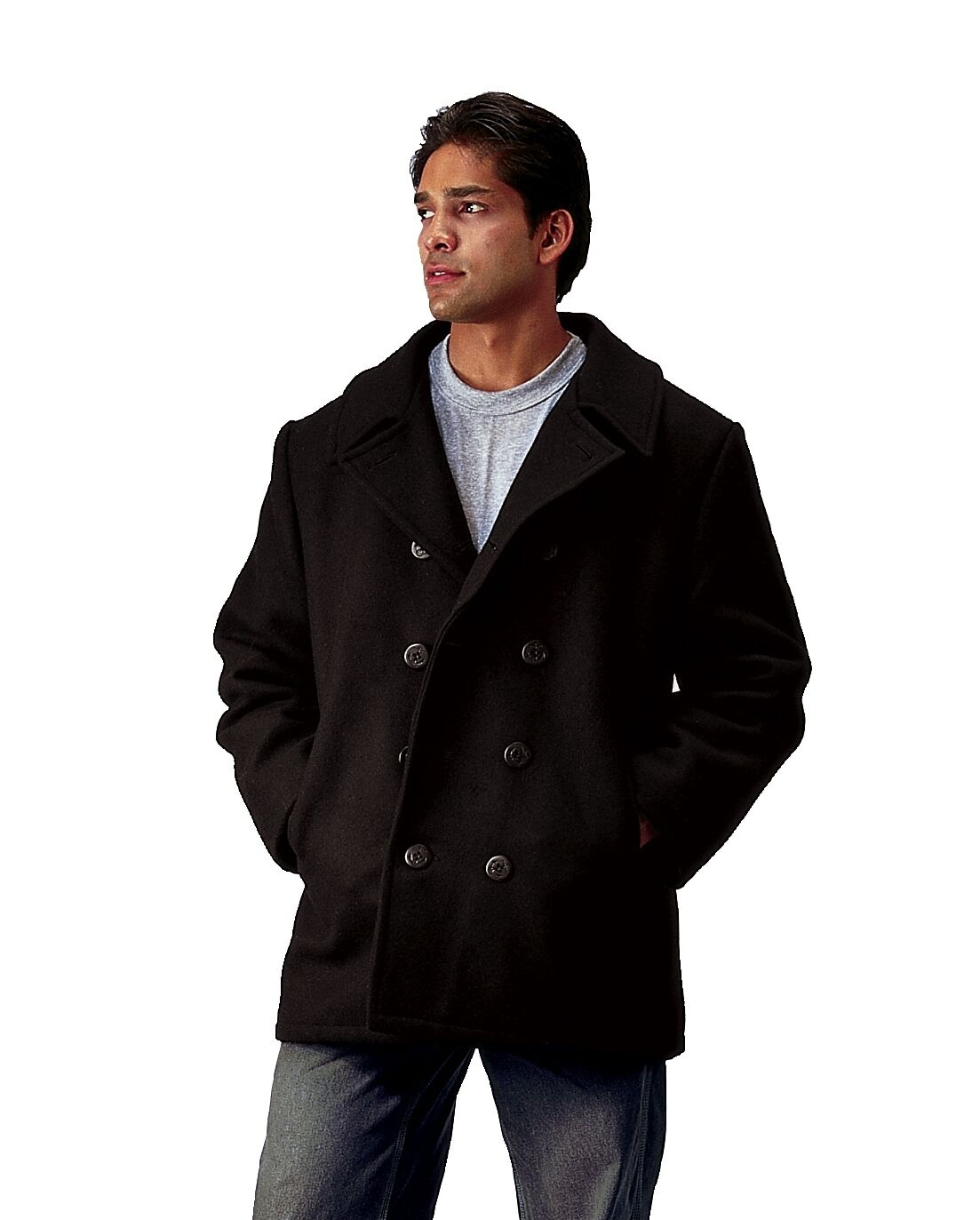 MEN'S NAVY TYPE WOOL PEACOAT