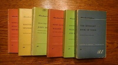Set of 6 vintage (1952-60) paperbacks, Rinehart Editions.