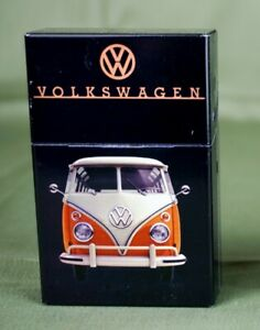 VW-Bus-Zigarettenetui-aus-Metall-Magnetverschluss-Bully-Zigaretten-Oldtimer-Schw