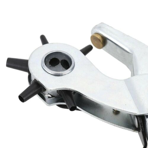 9 /'/' Excellent Wheel Leather Belt Band Hole Smooth Handle DIY Rotary Punch Tool