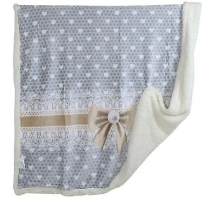 Bedding Coperta In Pile Plaid Con Sotto Caldo Agnellato Invernale Romantic Fiocco Shabby