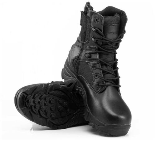 Men Military Tactical Leather Boots Desert Combat Hiking Outdoor Army Shoes