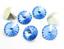6pcs-14mm-Rivoli-Chaton-Acrylic-Rhinestone-CHOOSE-A-COLOUR miniature 15