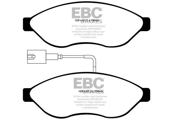 EBC Ultimax Front Brake Pads for Fiat Ducato 2.3 TD (2011 > 14)