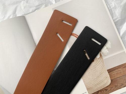 Women/'s Faux Leather Wrap Around Self Tie Obi Cinch Waist Belt Boho Waistband