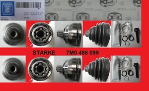 2-x-Driveshaft-Universal-Joint-VW-SHARAN-7M8-FORD-GALAXY-WGR-Seat-Alhambra