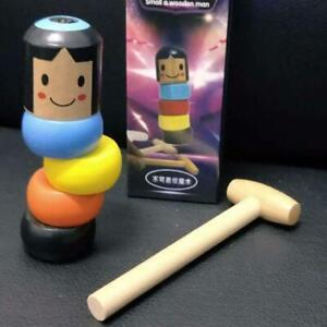 Unbreakable-Wooden-Man-Magic-Toy-Kleines-Geschenk-aus-Holz