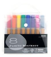 Xonex Snap Case Art Supplies, Jumbo Colored Markers, 8 Pieces, 1 Set (30132)