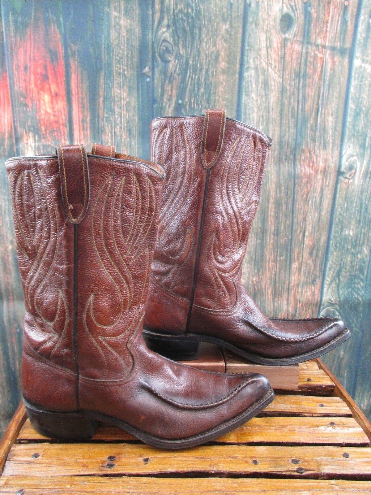 basso prezzo del 40% Vintage Vintage Vintage Uomo Sears Marrone Leather Cowboy Western stivali Dimensione  9 D  shopping online di moda