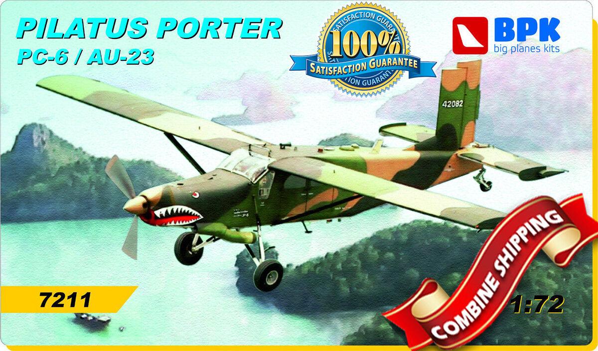 BPK (Big Planes Kits) 7211   Pilatus Porter AU-23 Peacemaker   plastic kit 1 72