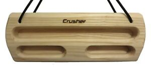 Details about Crusher Send - Portable Fingerboard Hangboard, Ash Hard Wood  Training Board