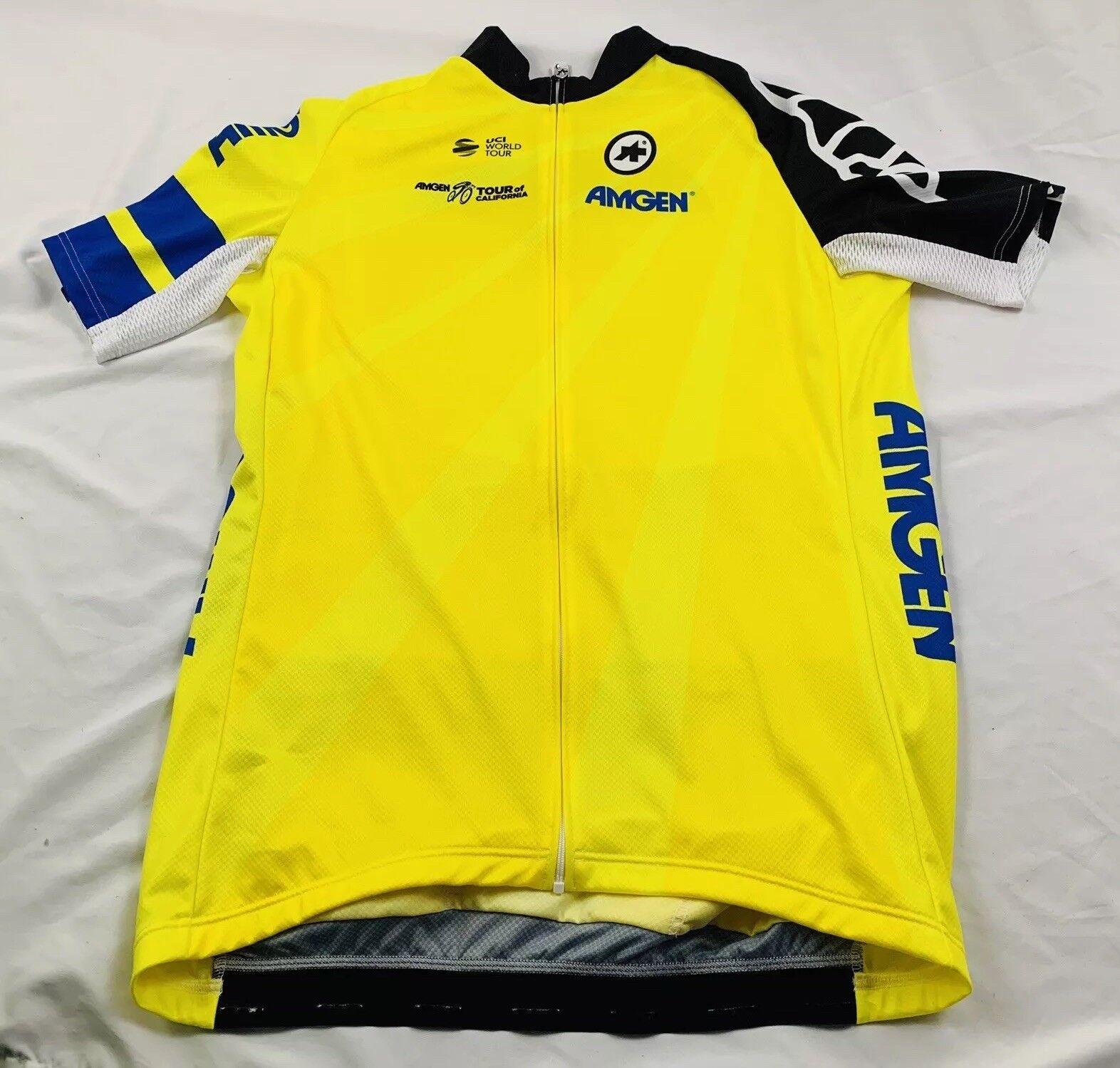 Assos Amgen Tour of California Leaders Yellow Jersey Full Zip
